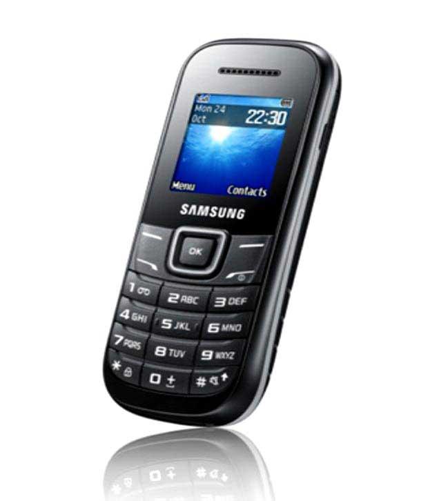 Samsung Guru E1200 Black Mobile