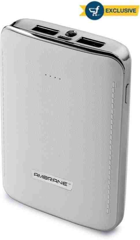 Ambrane P-1001 10050mAh Power Bank (White)
