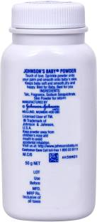 Johnsons Baby Powder, 50 gm