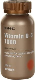Gnc Vitamin D3 1000 Iu Supplements (180 Capsules)
