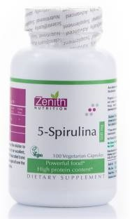 Zenith Nutrition 5 Spirulina 500 mg Supplements (200 Capsules)