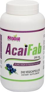 Zenith Nutrition Acai Fab 500 mg Supplements (240 Capsules)