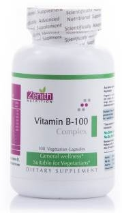 Zenith Nutrition Vitamin B 100 Complex Supplements (100 Capsules)
