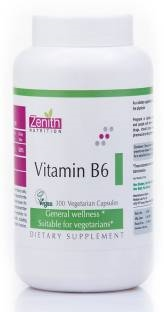 Zenith Nutrition Vitamin B6 Supplements (300 Capsules)