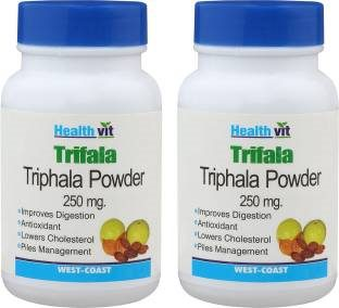 Healthvit Triphala Powder 250 mg Supplements (60 Capsules) - Pack Of 2