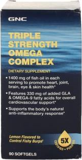 GNC Triple Strength Omega Complex Supplements (90 Softgels)