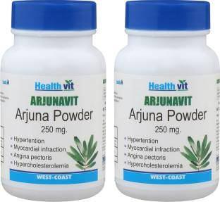 Healthvit Arjunavit Arjuna Powder 250mg (60 Capsules, Pack of 2)
