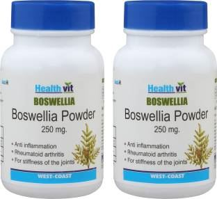 Healthvit Boswellia Powder 250 mg Supplements (60 Capsules) - Pack Of 2