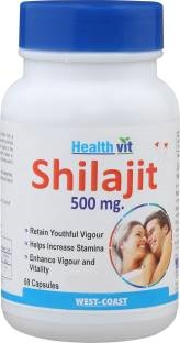 Healthvit Shilajit 500 mg Supplements (60 Capsules)