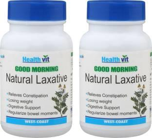 Healthvit GOOD MORNING Natural Laxative (60 Tablets, Pack of 2)