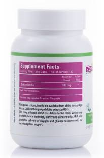 Zenith Nutrition Ginkgo Biloba 180 mg Supplements (180 Capsules)