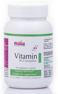 Zenith Nutrition Vitamin B Complex Supplements (180 Capsules)