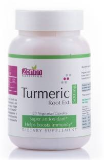 Zenith Nutrition Turmeric Root Ext 500mg Supplements (240 Capsules)