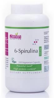 Zenith Nutrition 6 Spirulina 500 mg Supplements (200 Capsules)