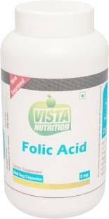 Vista Nutrition Folic Acid 2 mg Supplements (200 Capsules)