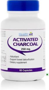 Healthvit Charcoal Activated 250mg (60 Capsules)