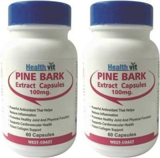 Healthvit Pine Bark Extract 100 mg (60 Capsules) - Pack Of 2
