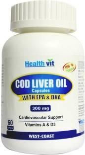 Healthvit Cod Liver Oil 300mg (60 Softgels)