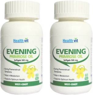 Healthvit Evening Primrose Oil 500 mg (60 Softgels, Pack of 4)