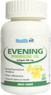 Healthvit Evening Primrose Oil 500 mg (60 Softgels)