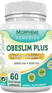 Morpheme Remedies Obeslim Plus Extract 500 mg (60 Veg Capsules, 3 Bottles)