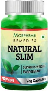 Morpheme Remedies NaturalSlim (Garcinia, Triphala, Guggul) Extract 500mg (60 Veg Capsules, Pack of 3)