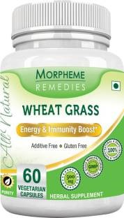 Morpheme Remedies Wheatgrass Supplements 500 mg Extract (60 Capsules) - Pack Of 3