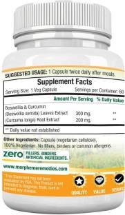 Morpheme Remedies Boswellia & Curcumin 500mg Extract (60 Capsules) - Pack of 3