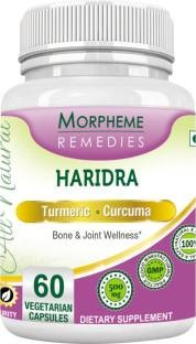 Morpheme Remedies Haridra Turmeric Curcumin 500 mg Extract (60 Veg Capsules, Pack of 3)