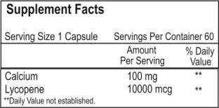 Healthvit Lycopene & Calcium Supplements (60 Capsules)