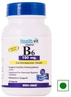 Healthvit Vitamin B6 100 mg (60 Capsules)