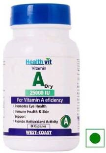 Healthvit Vitamin A Dry 25000 Iu Supplements (60 Capsules)