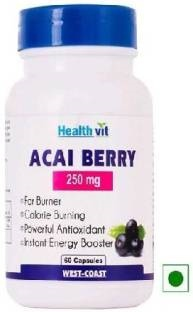 Healthvit Acai Berry Supplement (250mg 60 Capsules)
