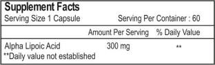 Healthvit Alpha Lipoic Acid 300 mg Supplements (60 Capsules)