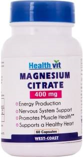 Healthvit Magnesium Citrate 400 mg Supplements (60 Capsules)