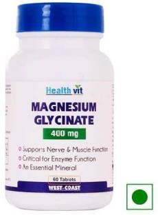Healthvit Magnesium Glycinate 400mg Supplements (60 Tablets)