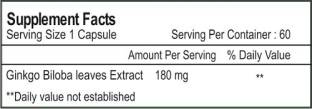 Healthvit Ginkgo Biloba 180 mg Supplement (60 Capsules)