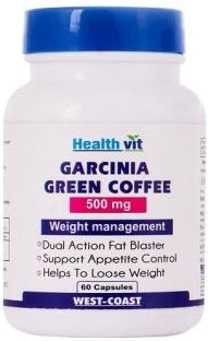Healthvit Garcinia Green Coffee 500 mg Supplements (60 Capsules)