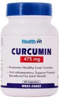 Healthvit Curcumin Extract 475 mg (60 Capsules)