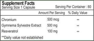 Healthvit Resveratrol Plus With Gymnema Sylvestre (60 Capsules)