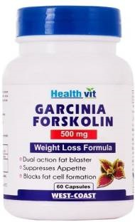 Healthvit Garcinia Forskolin 500 mg Supplements (60 Capsules)