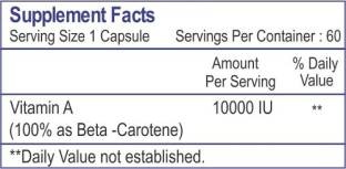 Healthvit Beta Carotene 10000 Iu Provitamin-A Supplements (60 Capsules)