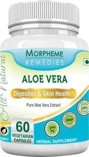 Morpheme Remedies Aloe Vera 500 mg Extract (60 Veg Capsules, Pack of 3)