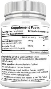 Morpheme Remedies Garcinia Forskolin Extract 500mg Supplements (60 Capsules, Pack of 3)