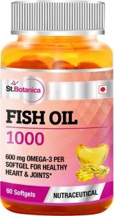 StBotanica Fish Oil 1000 mg (60 Softgels, Pack of 6)