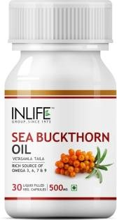 Inlife Seabuckthorn Seed Oil 500 mg Anti Aging Omega 7 (30 Veg Capsules)