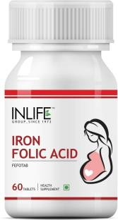Inlife Iron Folic Acid Prenatal Health Care Supplement (60 Capsules)
