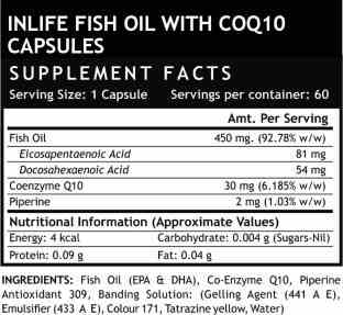 Inlife Fish Oil Omega 3 With Coenzyme Q10 (60 Capsules)