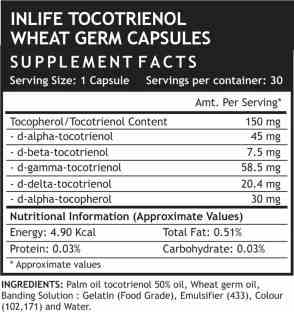 Inlife Tocotrienol Plus Wheat Germ Oil Supplements (30 Capsules)
