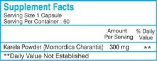 Healthvit Karel Karela Powder 300 mg Supplements (60 Capsules, Pack of 2)